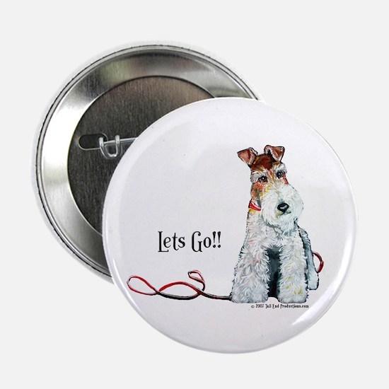 "Fox Terrier Walk 2.25"" Button"
