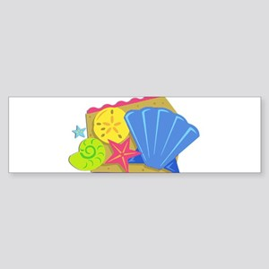 Seashells in the Sand Bumper Sticker