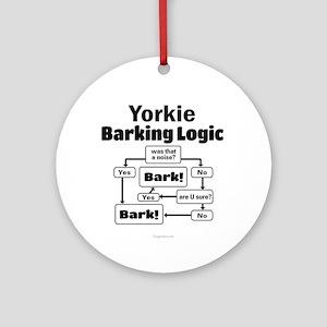 Yorkie Logic Ornament (Round)