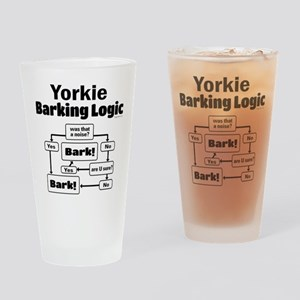 Yorkie Logic Drinking Glass