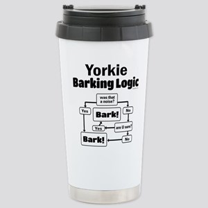 Yorkie Logic Stainless Steel Travel Mug