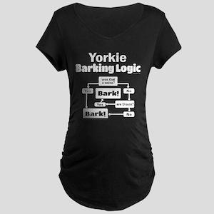 Yorkie Logic Maternity Dark T-Shirt