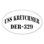 USS KRETCHMER Sticker (Oval)