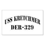 USS KRETCHMER Sticker (Rectangle)