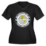 USS KRETCHME Women's Plus Size V-Neck Dark T-Shirt