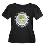 USS KRET Women's Plus Size Scoop Neck Dark T-Shirt