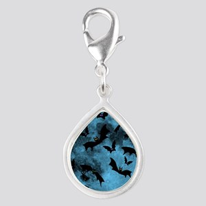Bats Flying in Blue Moon Charms