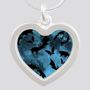 Bats Flying in Blue Moon Necklaces