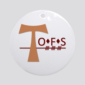 OFS Secular Franciscan Order Ornament (Round)