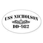 USS NICHOLSON Sticker (Oval)