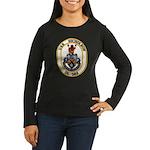 USS NICHOLSON Women's Long Sleeve Dark T-Shirt