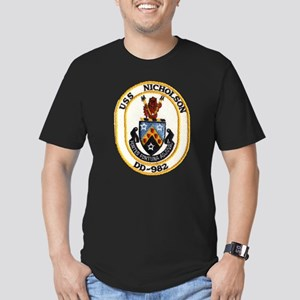 USS NICHOLSON Men's Fitted T-Shirt (dark)
