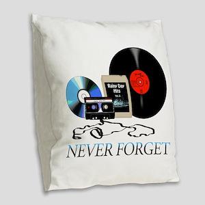 never-4 Burlap Throw Pillow