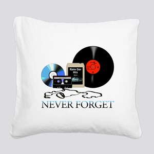 never-4 Square Canvas Pillow