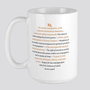 orange_black principles Large Mug