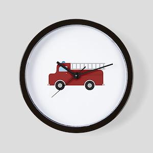 Firefighter Truck Wall Clock