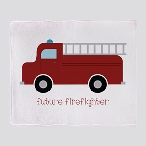 Future Firefighter Throw Blanket