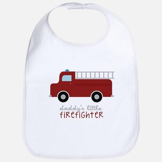 Daddys Little Firefighter Bib