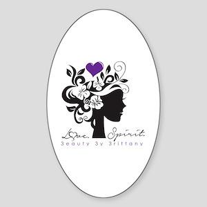 Love. Spirit.  Sticker (Oval)