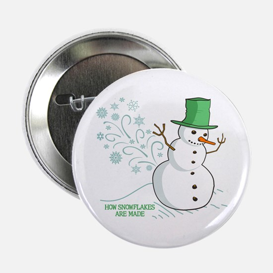 "Funny Snowman 2.25"" Button"