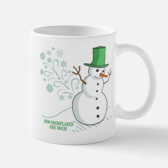 Funny Snowman Snowflakes Illustration Mugs
