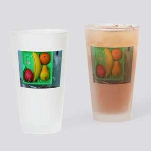 marzipan fruit in plastic box Drinking Glass
