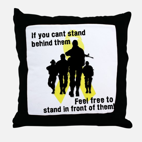 Feel Free To Stand In Front o Throw Pillow