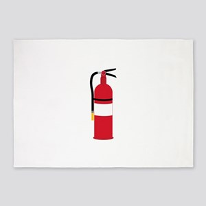 Fire Extinguisher 5'x7'Area Rug