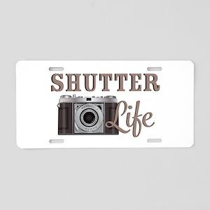 Shutter Life Retro Camera Aluminum License Plate