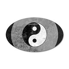 Distressed Yin Yang Symbol Wall Decal