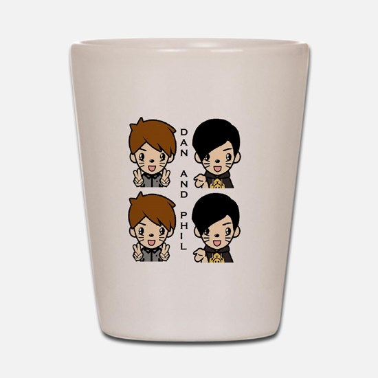 Dan and Phil Shot Glass