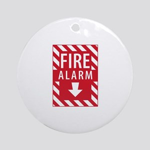 Fire Alarm Sign Ornament (Round)