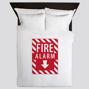 Fire Alarm Sign Queen Duvet