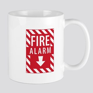 Fire Alarm Sign Mugs