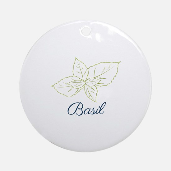 Basil Plant Ornament (Round)