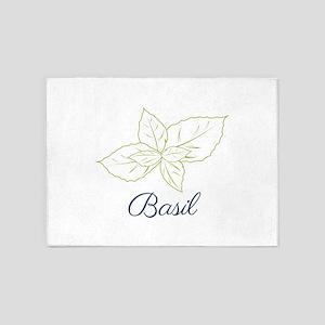 Basil Plant 5'x7'Area Rug