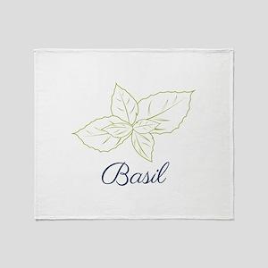 Basil Plant Throw Blanket