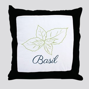 Basil Plant Throw Pillow