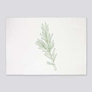 Rosemary Herb Plant 5'x7'Area Rug