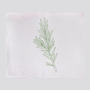 Rosemary Herb Plant Throw Blanket