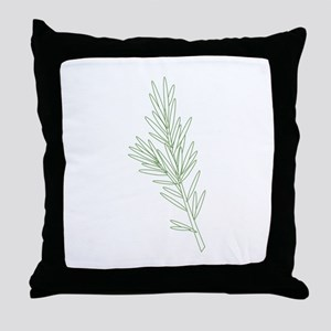 Rosemary Herb Plant Throw Pillow