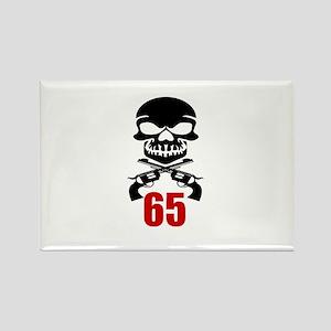 65 Birthday Designs Rectangle Magnet