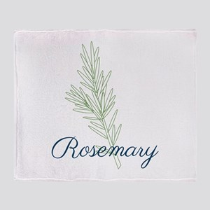 Rosemary Plant Throw Blanket