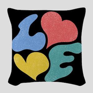 L<3VE Woven Throw Pillow