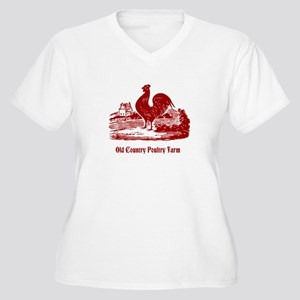 Red Rooster Country Farm Customizable Plus Size T-