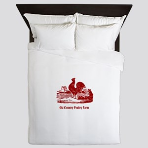 Red Rooster Country Farm Customizable Queen Duvet