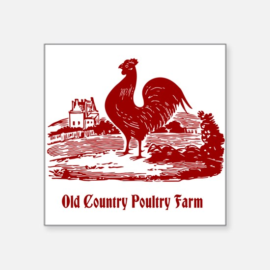 Red Rooster Country Farm Customizable Sticker