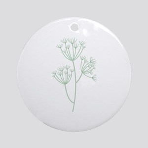 Dill Herb Plant Ornament (Round)