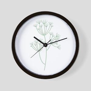 Dill Herb Plant Wall Clock