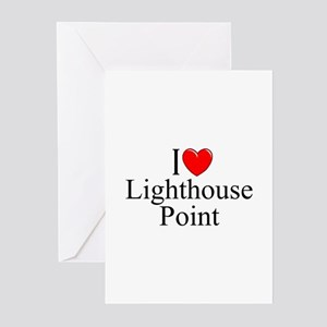 """""""I Love Lighthouse Point"""" Greeting Cards (Package"""